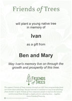 Gift Tree personalized card